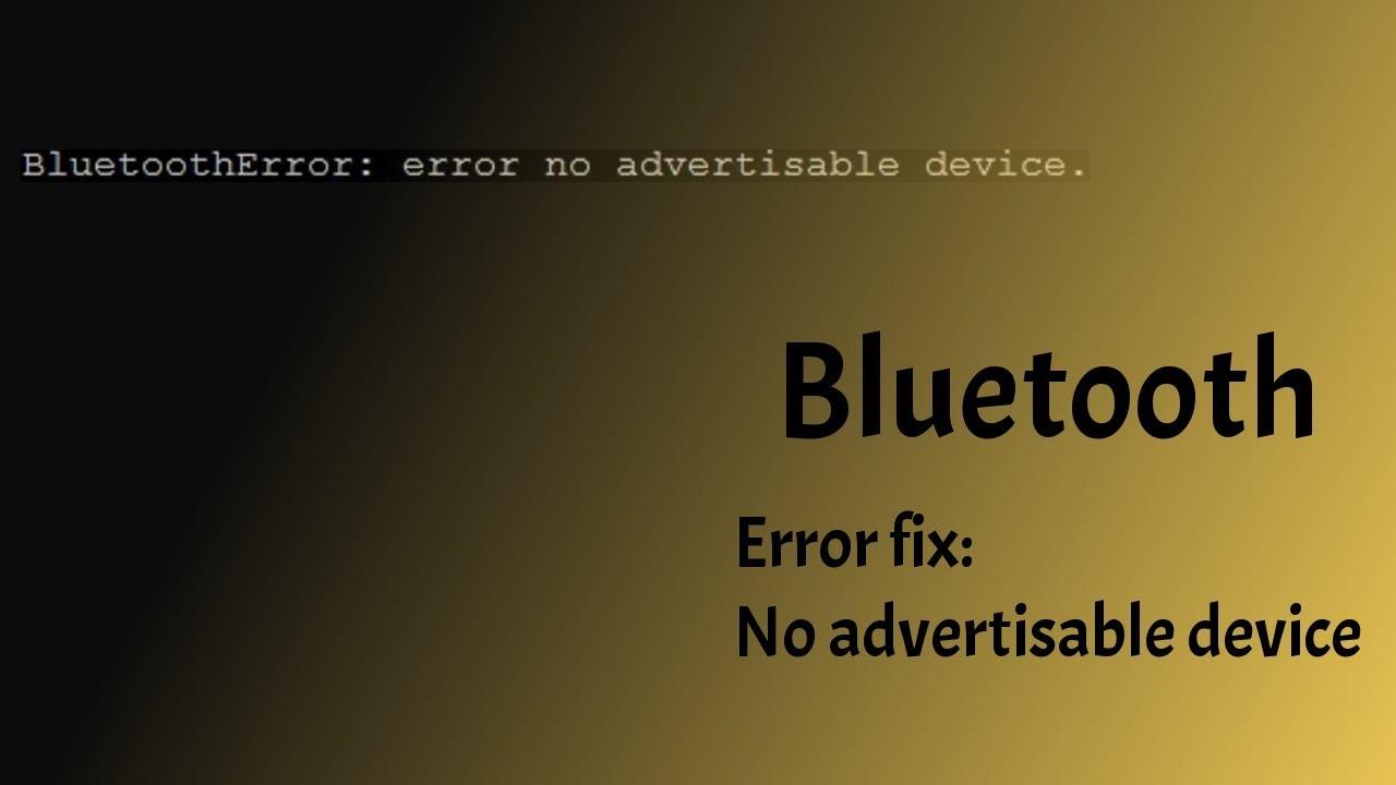 ( no advertisable device ) - Linux / Python - Bluetooth error fix [  Raspberry Pi ]