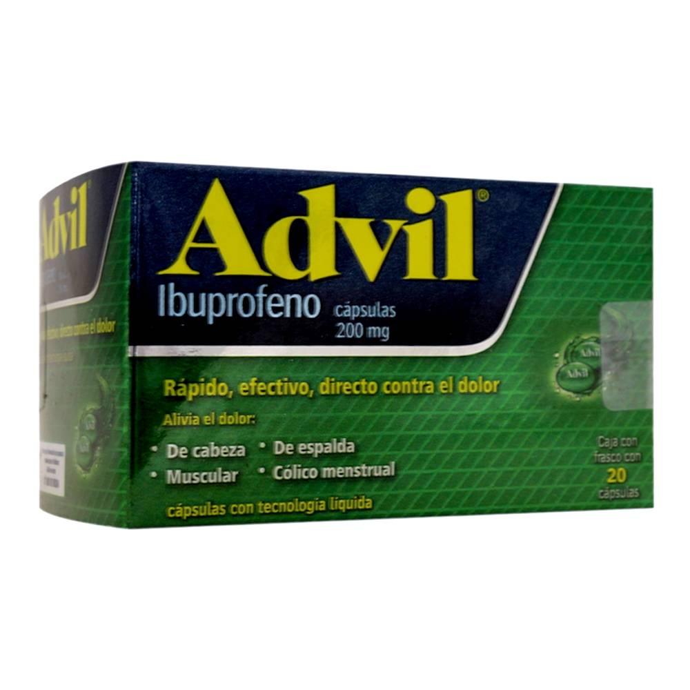 Advil 200 mg, 20 cápsulas
