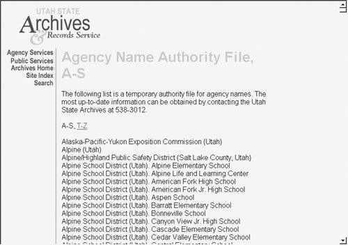 authority file