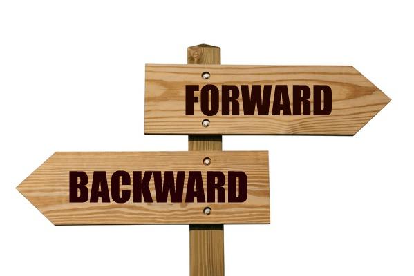 backward and forward
