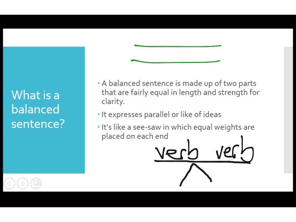 balanced sentence