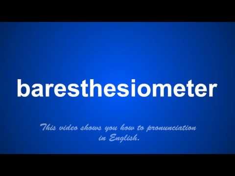 baresthesiometer
