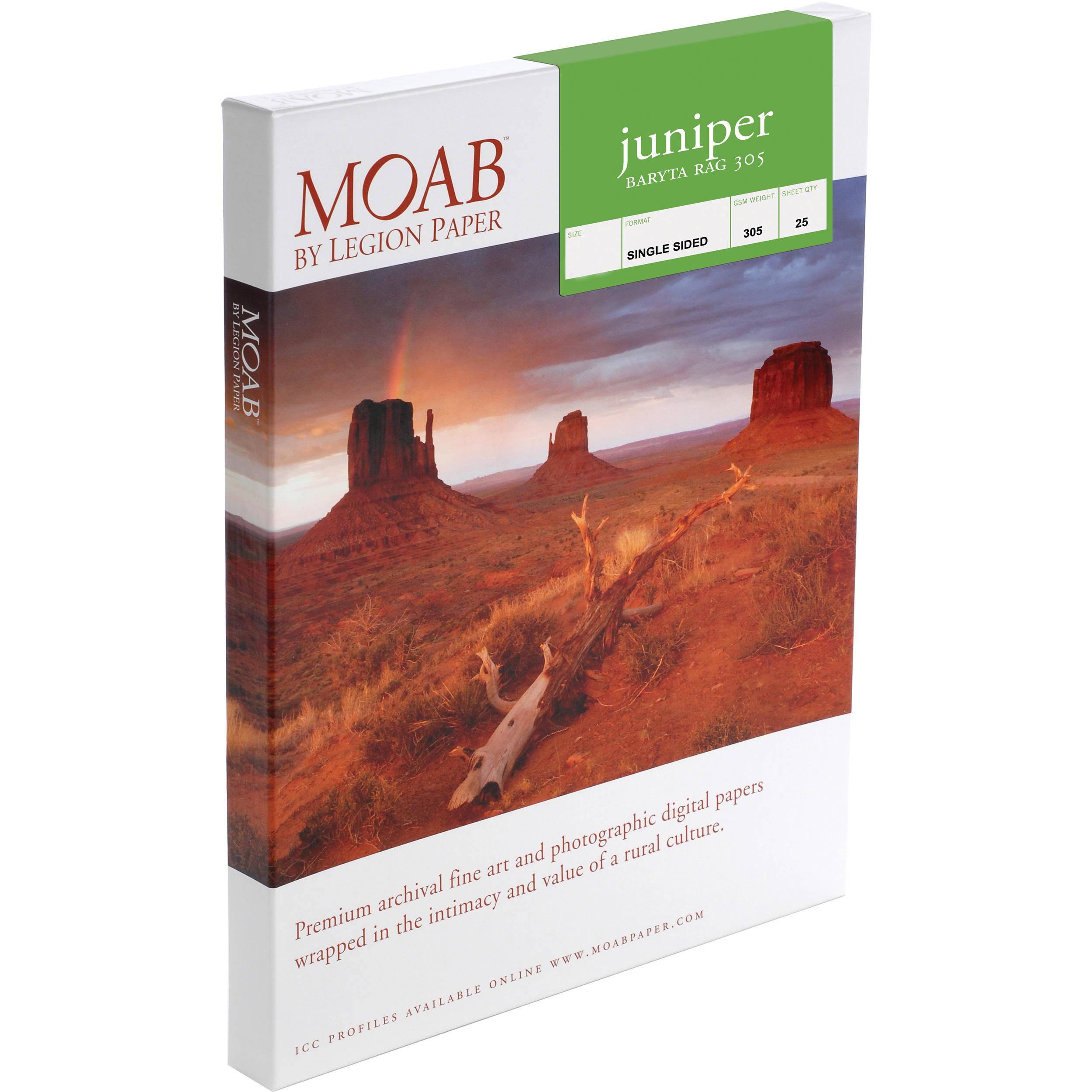 7556f1638d2c7 Moab Juniper Baryta Rag 305 Paper F01-JBR305131925 B H Photo