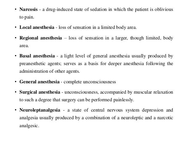 basal anesthesia