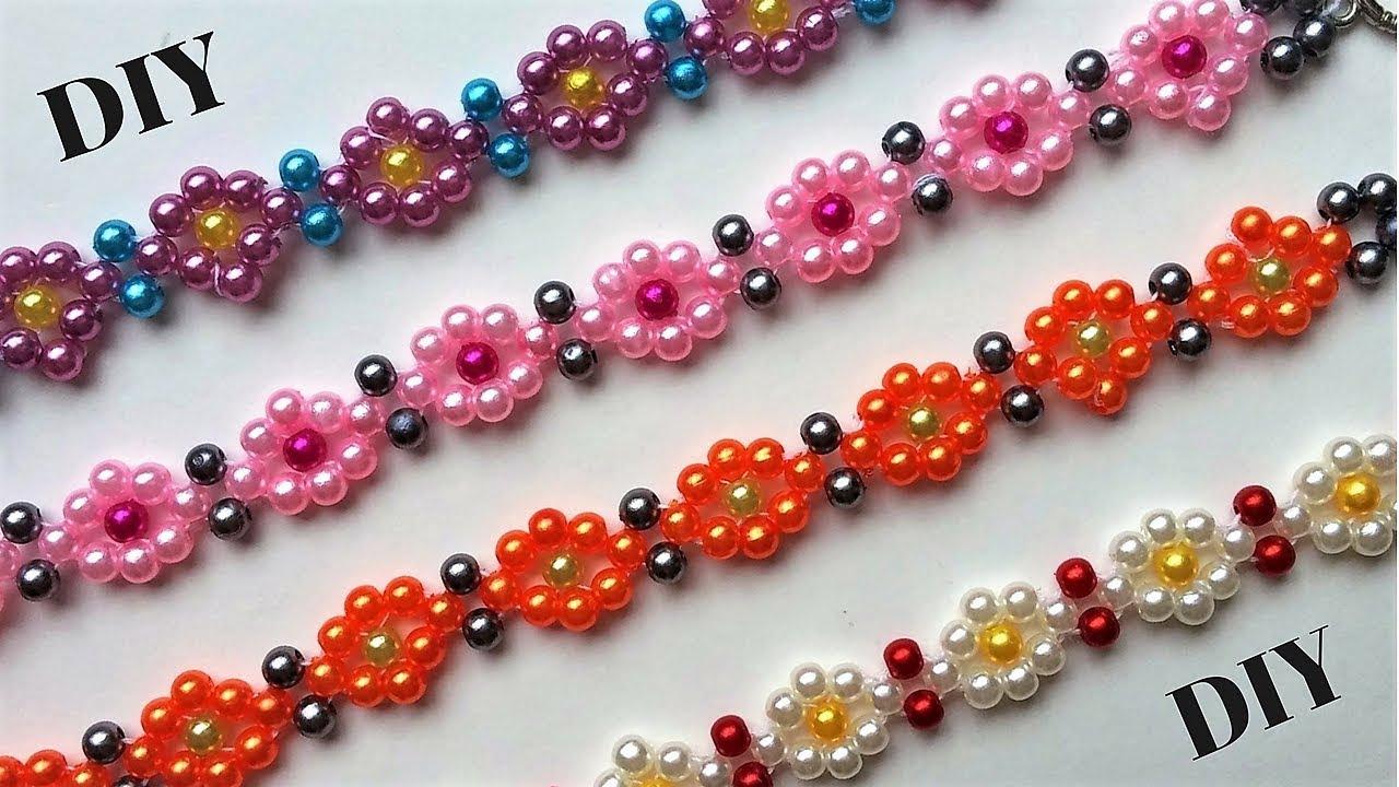 DIY Beaded bracelets. Beading tutorial. - Easy jewelry making