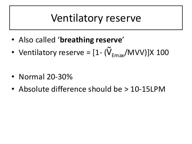 breathing reserve
