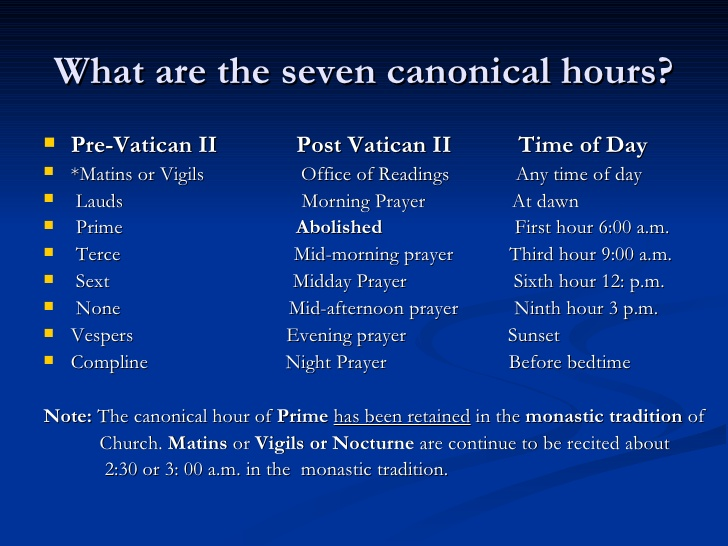 canonical hour - Liberal Dictionary