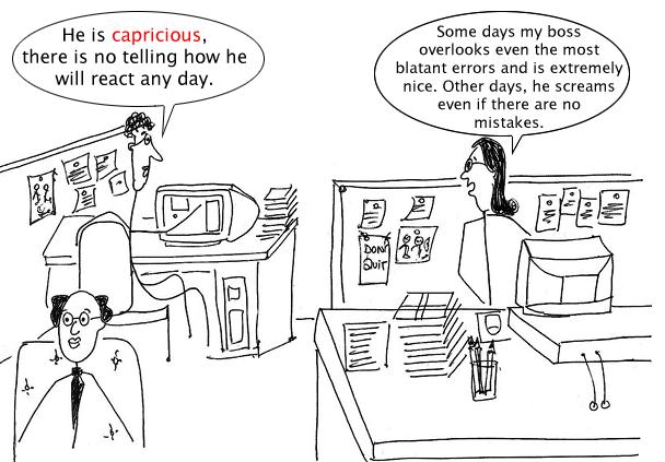 capriciousness
