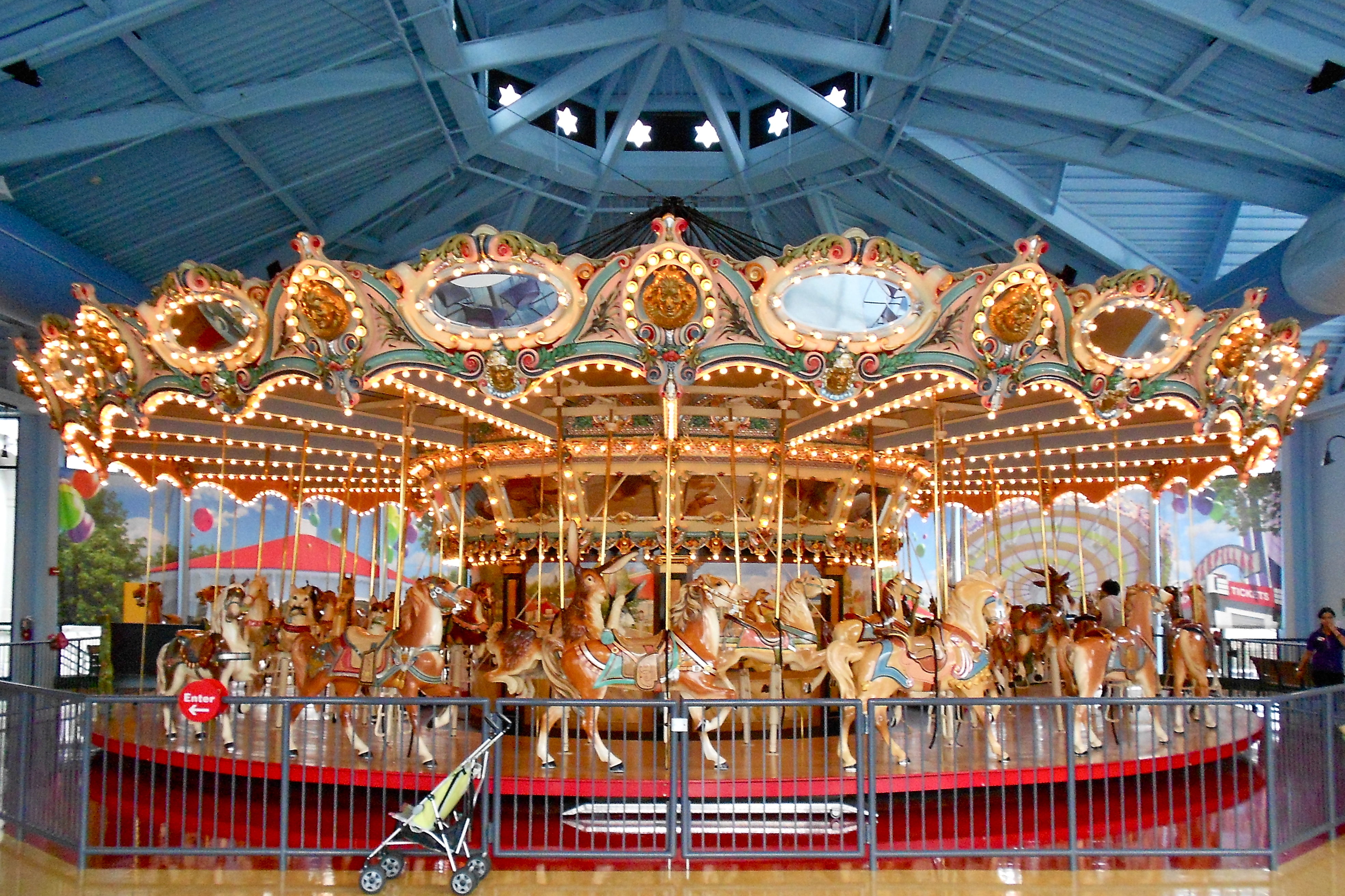 The Woodside Amusement Park Carousel, now at the Please Touch Museum