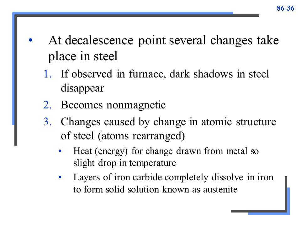 decalescence