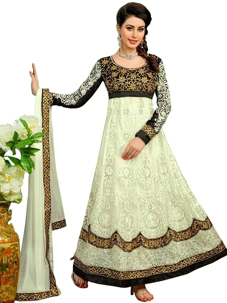 Delectated off white color #anarkali #suit. Item Code: SLDN22008