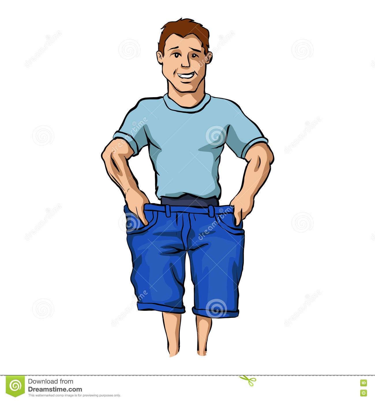 Hombre con el cuerpo delgado