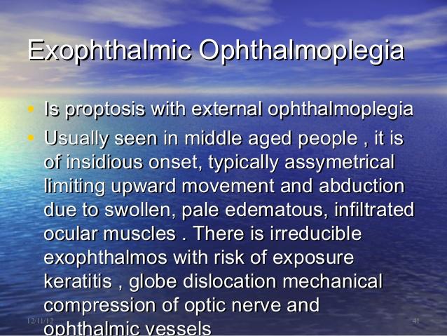 exophthalmic ophthalmoplegia