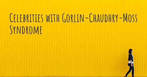 gorlin-chaudhry-moss syndrome
