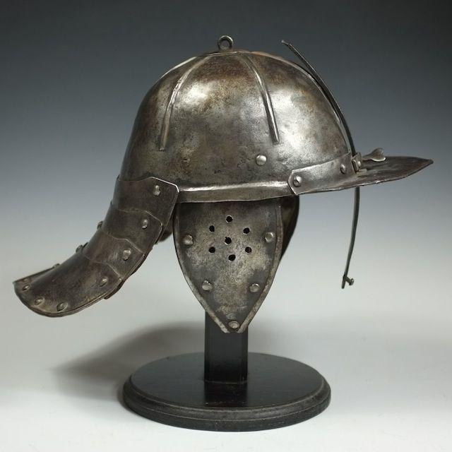lobster-tail helmet