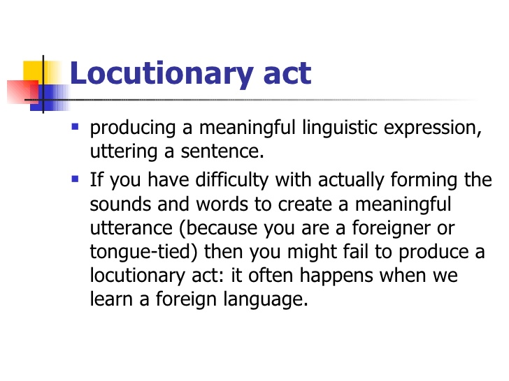 Locutionary act