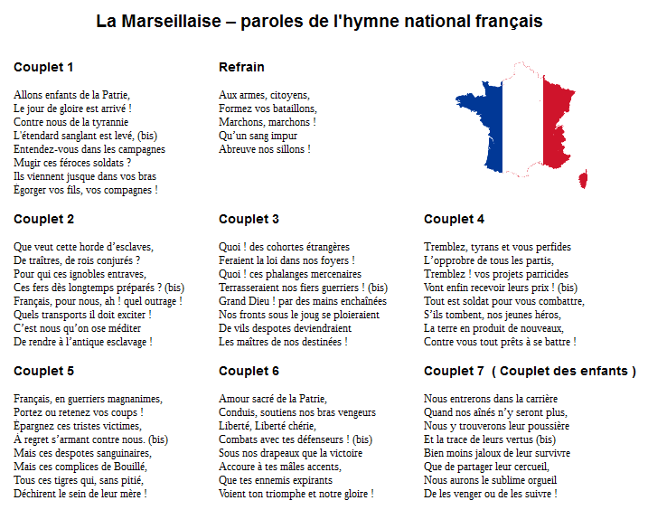 Marseillaise Hymne