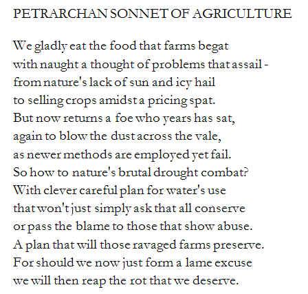 petrarchan sonnet
