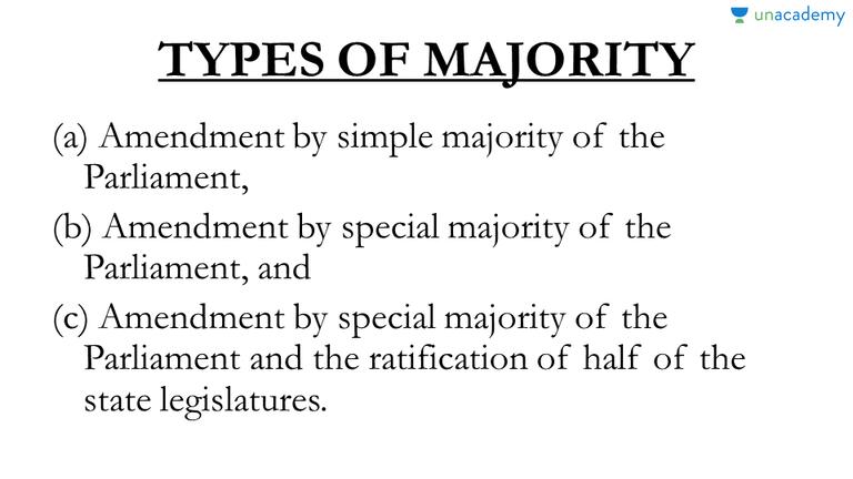 simple majority