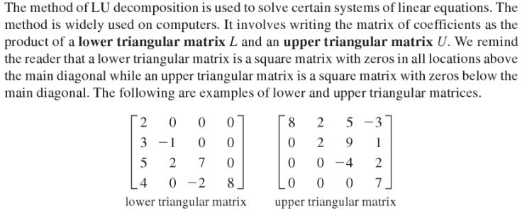 triangular matrix
