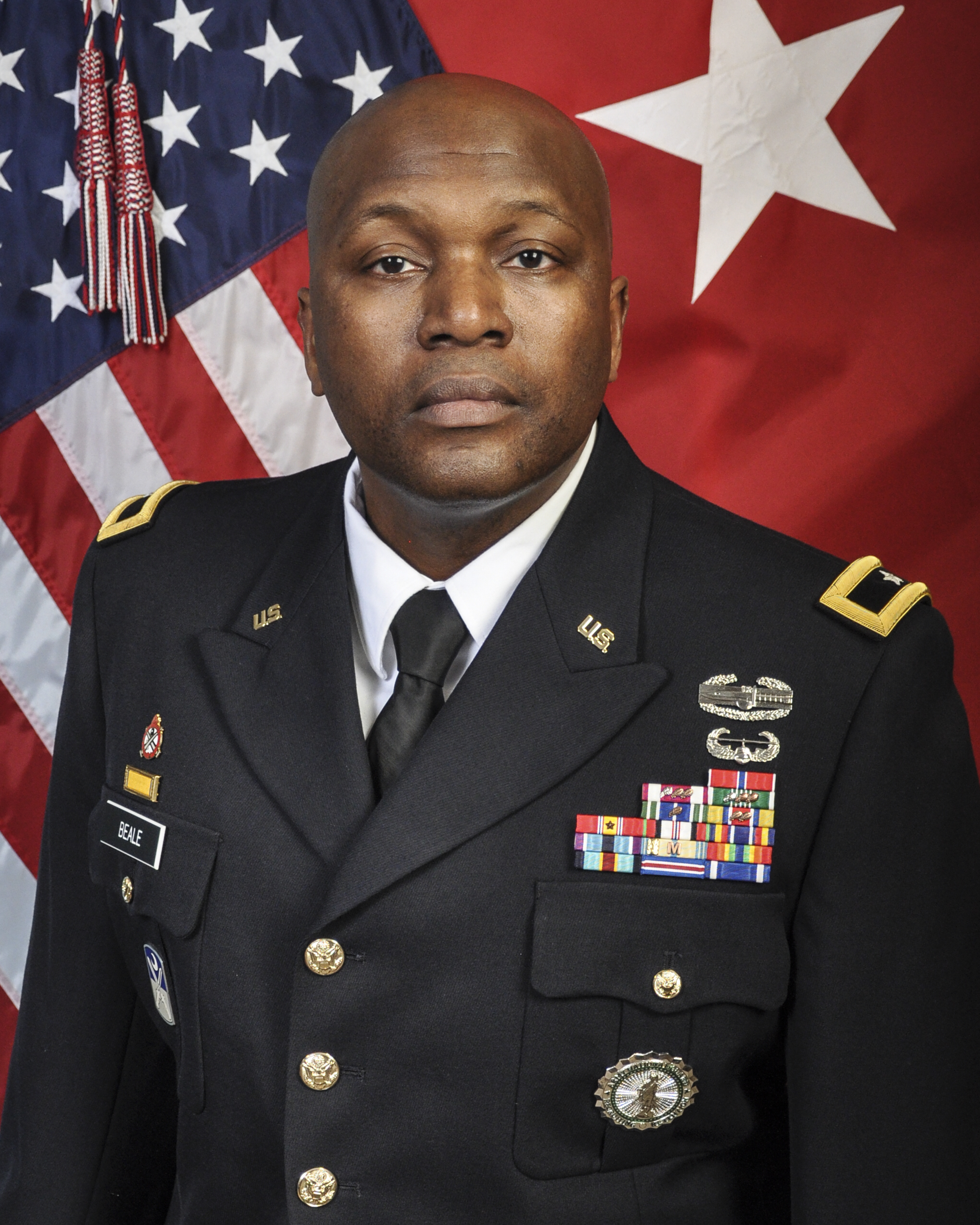 Brigadier General Jemal J. Beale was sworn in as The Adjutant General of  New Jersey on April 2, 2018. Brigadier General Beale commands the more than  8,400