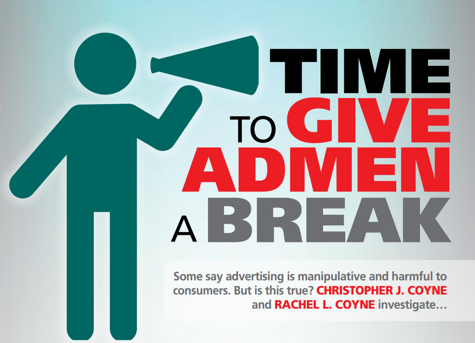 In the Spring 2015 issue of the Economic Affairs Magazine, Christopher  Coyne and Rachel L. Coyne explain that advertising can improve our  well-being,