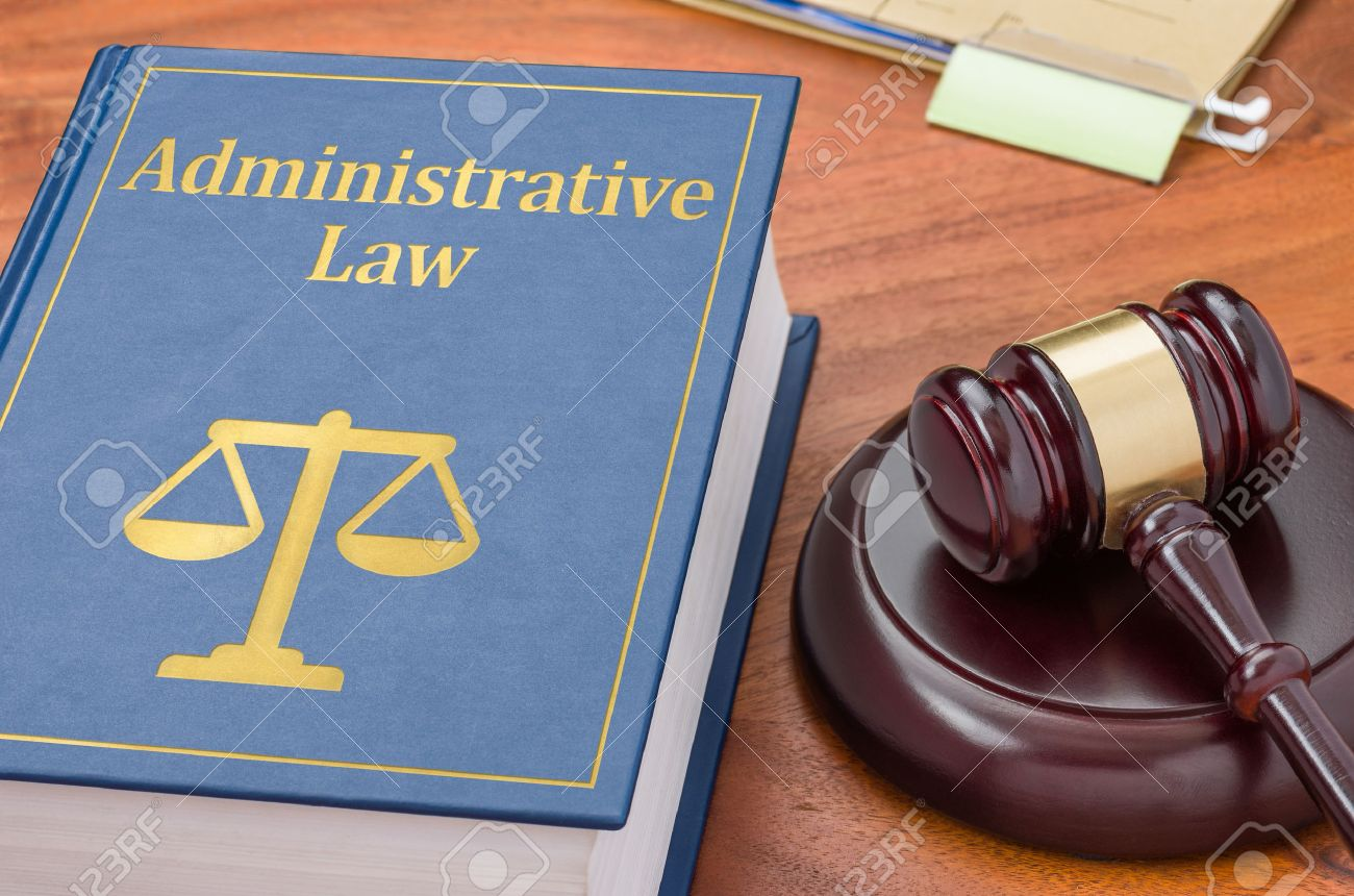 A law book with a gavel - Administrative law Stock Photo - 38365672
