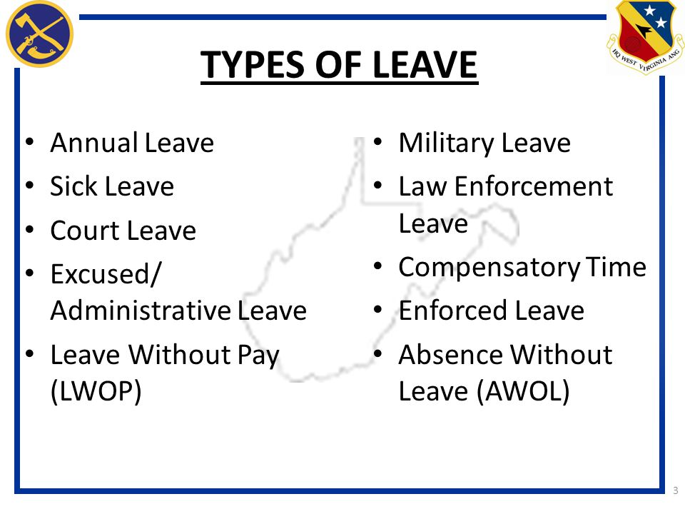 TYPES OF LEAVE Annual Leave Sick Leave Court Leave