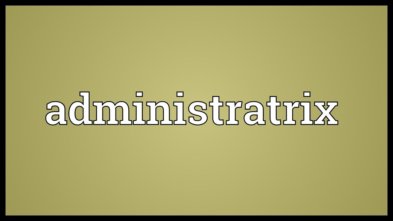 Administratrix Meaning