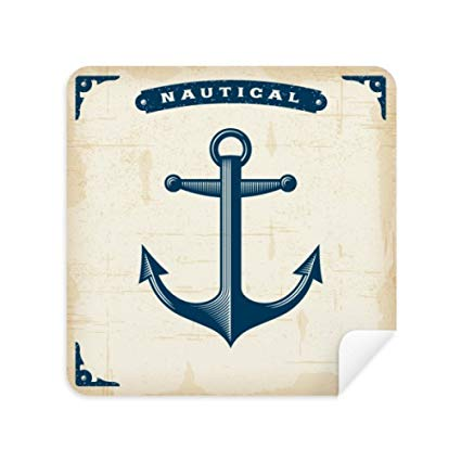 Anchor Droits Admiralty Blue Military Ocean Glasses Cleaning Cloth Phone  Screen Cleaner Suede Fabric 2pcs