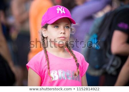Nyon, Switzerland - 17 July 2018: admirative young girl watching concert of  Turkish Dutch