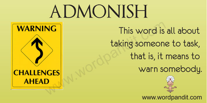 admonishment