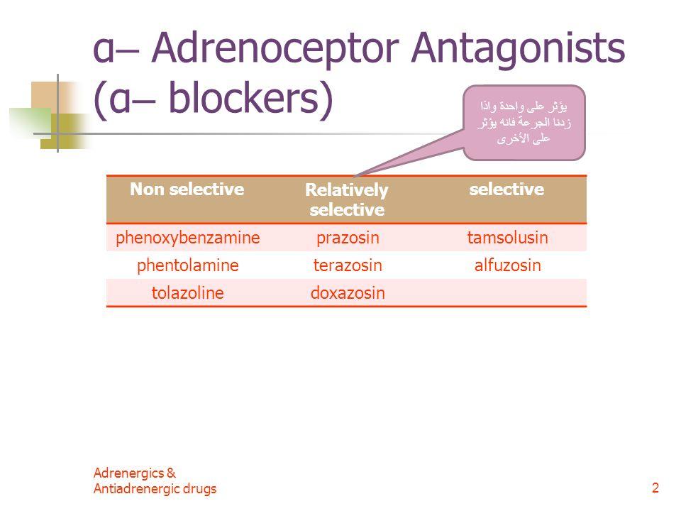 2 α– Adrenoceptor