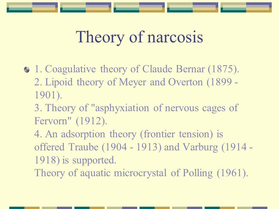 Theory of narcosis