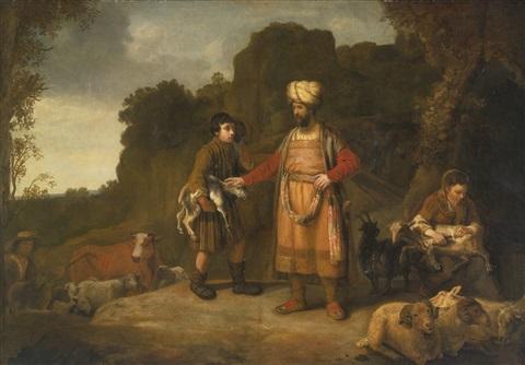 judah and hira the adullamite by rembrandt van rijn