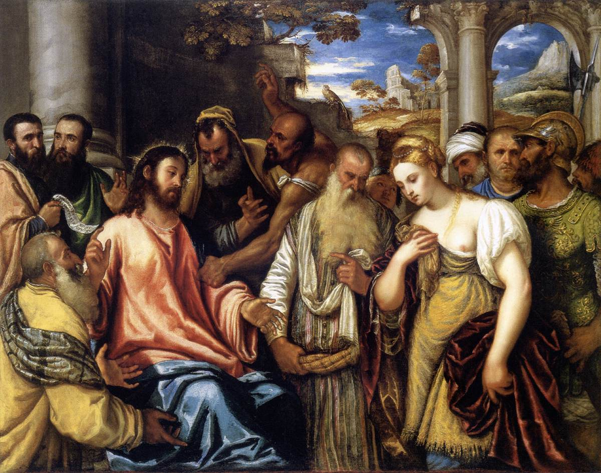 File:Polidoro Da Lanciano - Christ and the Adulteress - WGA18026.jpg