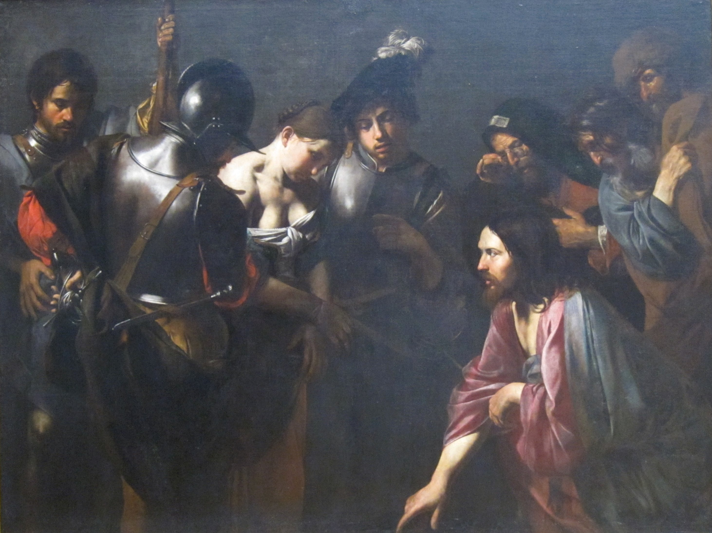 File:Christ and the Adulteress by Valentin de Boulogne, Getty Center.JPG