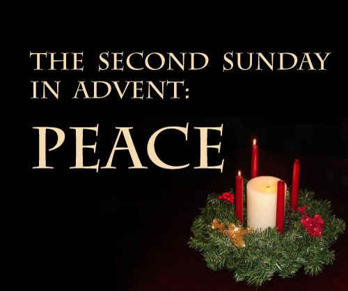 The Second Sunday In Advent Peace Candles Picture