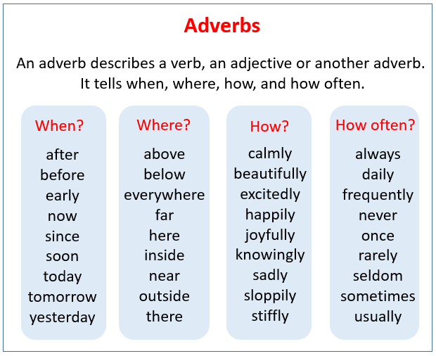 Adverb Song