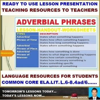 adverbial phrase