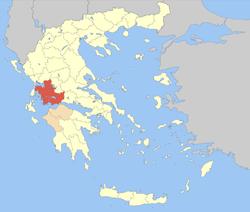 Aetolia-Acarnania within Greece