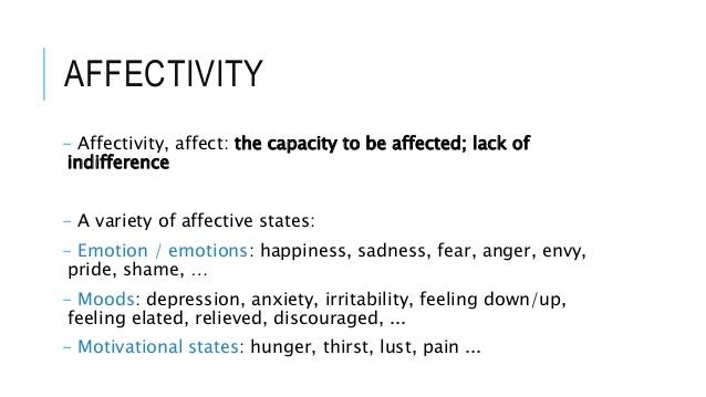 AFFECTIVITY - Affectivity