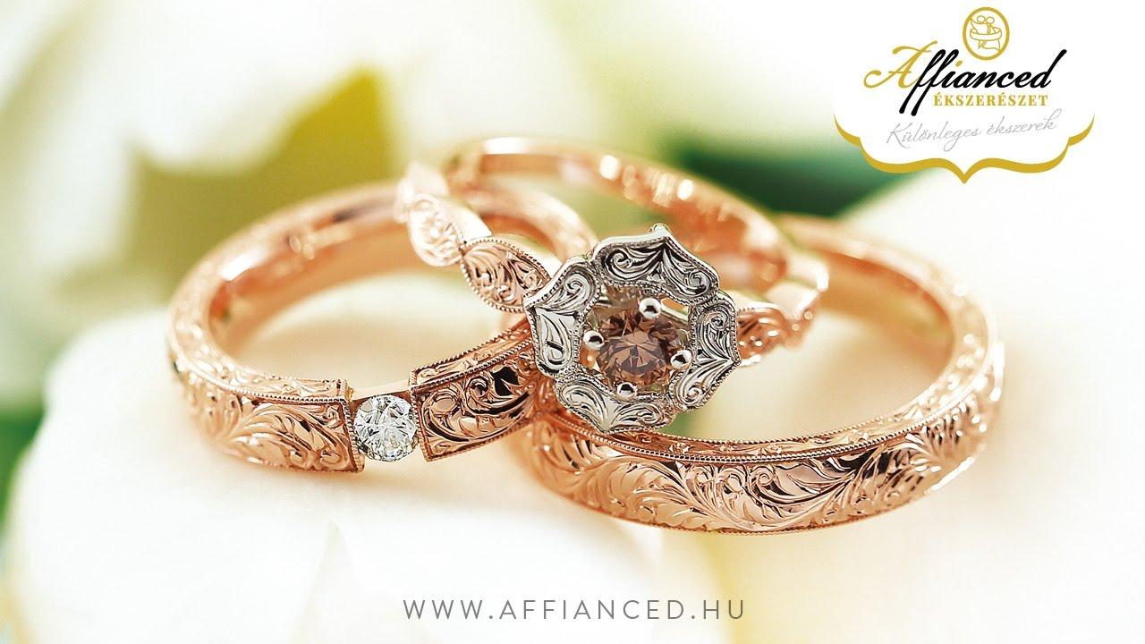 Karikagyűrű, jegygyűrű, eljegyzési gyűrű - Affianced Ékszerészet