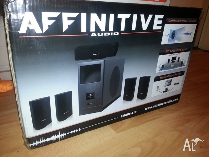 New Home Theater Affinitive Audio system for sale.