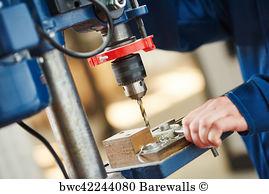 Affixment Art Print Poster - Process Of Metal Drill Machining