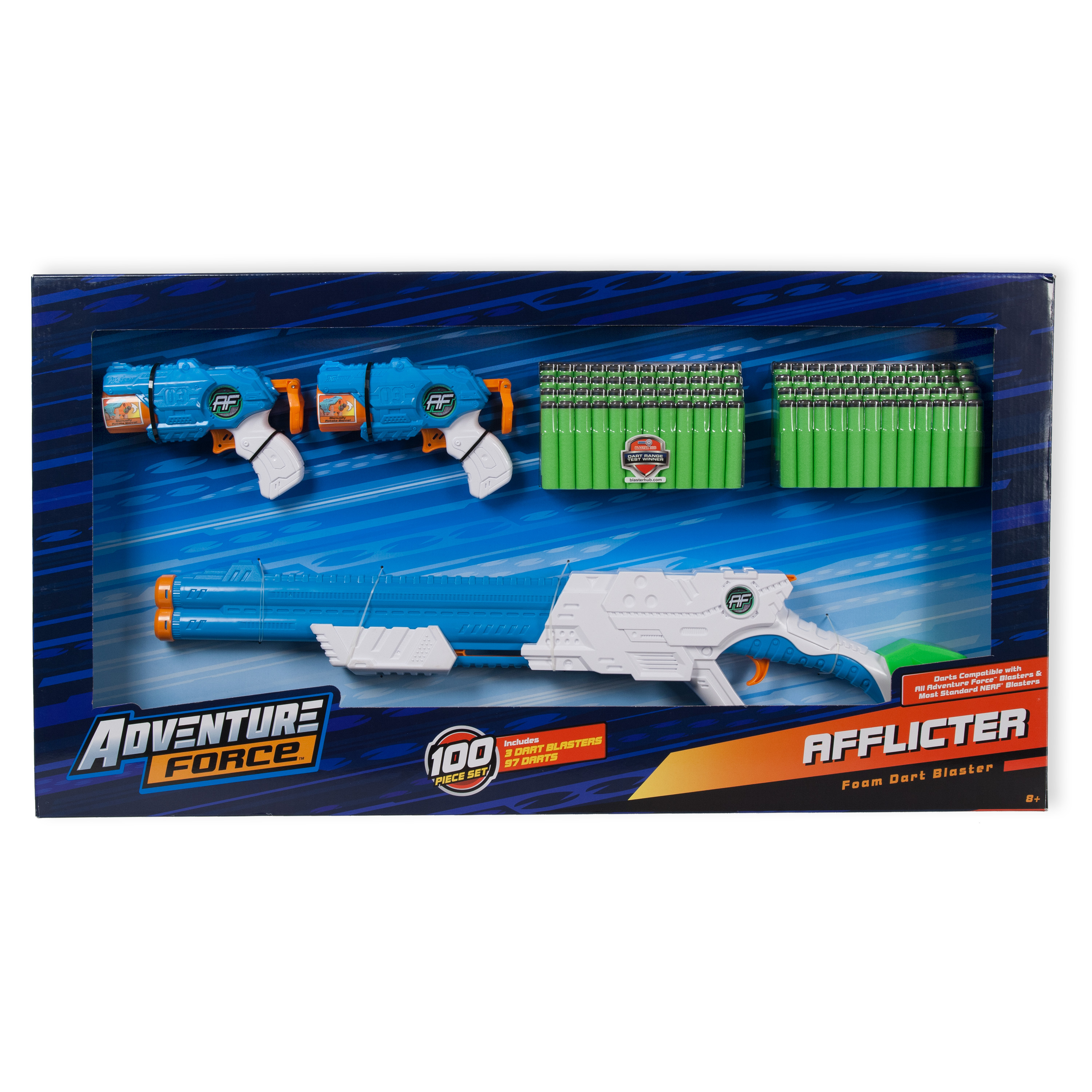 Adventure Force Afflicter Combo Pack (Includes 3 Blasters & 97 Darts) -  Traveller Location