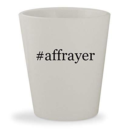 #affrayer - White Hashtag Ceramic 1.5oz Shot Glass