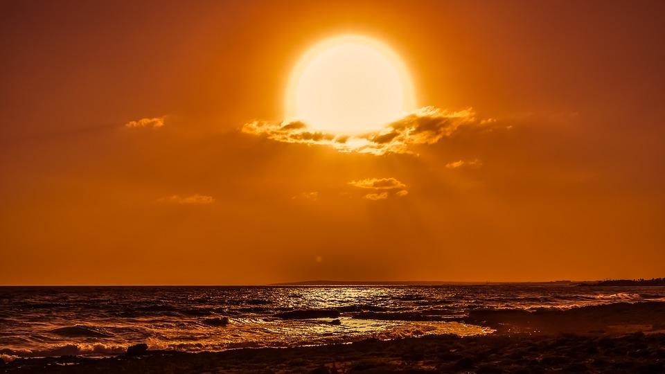 sun clouds afternoon sky sunset sunlight sunbeam