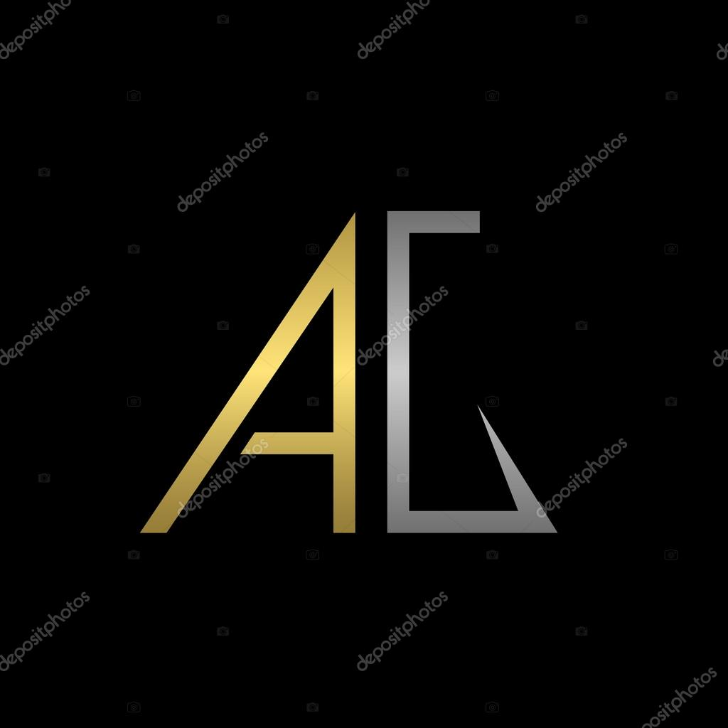 A oro y plata G Letras plantilla de logotipo para su empresa — Vector de  mishabokovan