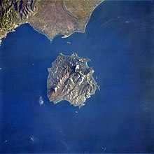 Thasos from space, April 1993